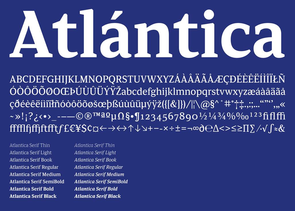Tipografía Atlántica Serif (2015-2016)