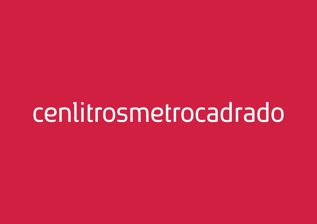 Creación de tipografía para o logotipo do estudio de deseño Cenlitrosmetrocadrado