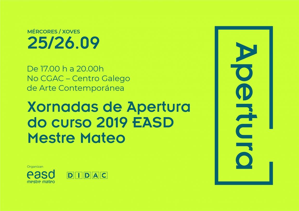Xornadas Apertura EASD Mestre Mateo